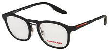 Prada Sport Eyeglasses PS 06HV DG01O1 52 Black  Frame [52-20-145]