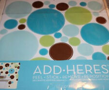 DOTS CIRCLES wall stickers 56 colorful decals room decor lotsadots blue brown +
