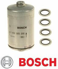 Fuel Filter & 4 Fuel Filter Seals Bosch Fits: Saab 9-3 9-5 900 9000 1985 - 2005