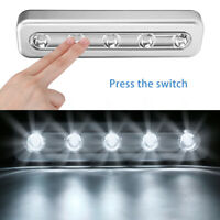 5 LED Night Light Cabinet Wall Lamp Touch Sensor for Closet Bedroom Energy Save