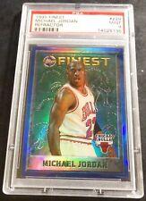 1995 MICHAEL JORDAN TOPPS FINEST REFRACTOR #229 PSA 9 BULLS HOF POP 42