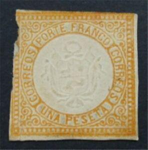 nystamps Peru Stamp # 15 Mint OG H $150       S24x890