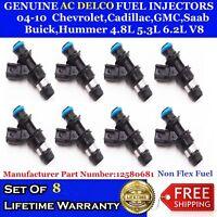 8x OEM Delphi fuel injectors for 01-09 GMC C4500 To C7500 8.1L V8 #17124531