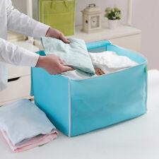 Foldable Room Bag Storage Box Holder Blanket Zipper Organizer For Clothing(2Pack
