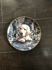 porcelain plate a golden welcome by mandie haywood
