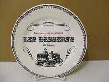 """GIEN LES DESSERTS GASTRONOMIE Les Gateaux DESSERT PLATE 8 5/8"""" 1308G"""