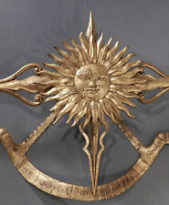 Vintage Modern Italian Gilded Metal TOLE Palladio Sculpture Wrought Iron Scales