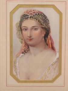 Ottoman Watercolour Mable Emily Hobson Hankey Miniaturist Victorian Circa 1900
