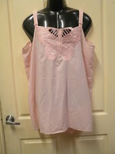 """AUTOGRAPH PINK  """"BUTTERFLY"""" SLEEVELESS CAMI TOP SZ 26-NEW REDUCED PRICE!!!]"""