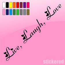 LIVE LAUGH LOVE, CAR / VAN / CARAVAN / WINDOW STICKER / DECAL 210mm x 35mm