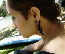 Tribal Black Horn Earrings Fake Gauge Organic  Spiral Earring Cheater Expander