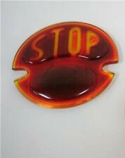 1928 1929 1930 1931 Ford Model A STOP Script Glass Tail Light Lamp Lens (1)