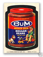 1974 Topps Wacky Packages Bum Beggar Baked Beans 10th Series 10 NM-
