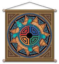 "15"" X 15"" Tortoise Medicine Healing Mandala Meditation Banner"