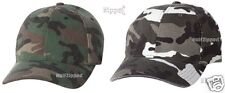 Flexfit Camo Cap Green or Silver Camouflage Fitted Hat 6977CA S/M and L/XL