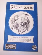 THE RACING GAME G.S. DAVISON PAPERBACK BOOK 1956 MOTORCYCLE RACING FLOYD CLYMER