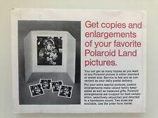 Vintage Polaroid Copy Service order Form Mint Condition