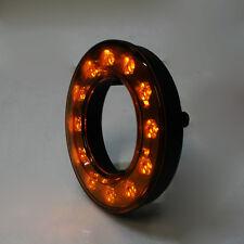12v 24v Amber Orange Glow Ring Led Rear Round Tail Lamp Light Truck Van Trailer