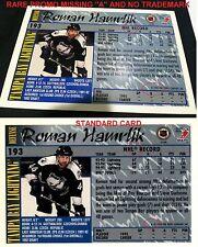 """ROMAN HAMRLIK 1995-96 Topps MISSING """" A """" Dealer PROMO Sample SSP RARE"""