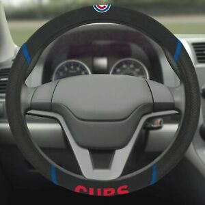 Chicago Cubs Embroidered Steering Wheel Cover, MLB