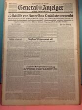 German Newspaper - General Anzeiger - Front page - April 11, 1942 - World War II