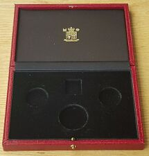 Empty United Kingdom Gold Proof Sovereign 3 Coin Collection Presentation Case