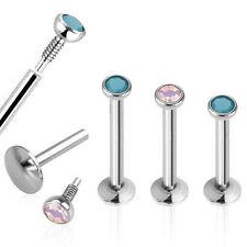 Opal Surgical Steel Stud Body Piercing Jewellery
