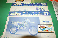 1999 KTM 250/300/380 SX, MXC, EXC, & EGS Spare Parts Manual Engine + Chassis