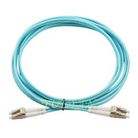 3m LC-LC Duplex 50/125 Multimode 10 Gb Fiber Patch Cable Aqua OM3