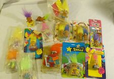 Troll Doll LOT Obscure Rare Unique HTF Pin Pencil Sharpener Wishing Star Stamp