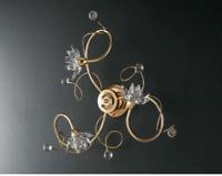 Plafoniere Con Gocce Di Cristallo : Plafoniera hanna color oro con pendenti in cristallo cm