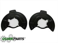 07-18 JEEP WRANGLER LEFT AND RIGHT FRONT BRAKE ROTOR SPLASH SHIELDS GUARDS MOPAR
