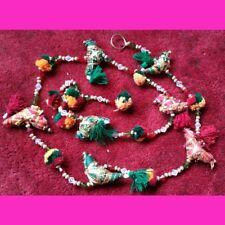 Indien décoration de porte long suspendu avec Perroquets et petites cloches