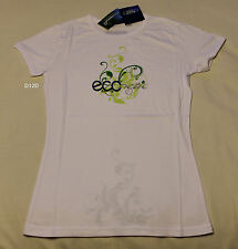 Ford Ladies Econetic White Printed Short Sleeve T Shirt Size 10 New
