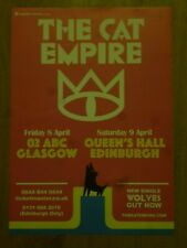 The Cat Empire - Glasgow/Edinburgh april 2016 show tour concert gig poster