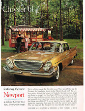 1961 Chrysler NEWPORT Sahara Sand 4-door Sedan Old Food TruckVTG Print Ad