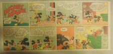 Mickey Mouse Sunday Page by Walt Disney from 8/15/1943 Third Page Size