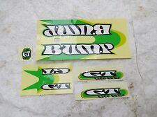 GT BUMP DECALS WHITE GREEN YELLOW BMX RACING STICKERS NOS VINTAGE