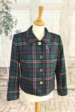 JOULES Green tartan check Wool jacket size 14
