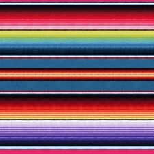 Fabric Mexican Sombrero Serape Fiesta Stripe on Cotton by Elizabeth 1/4 yard