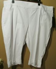 Briggs Capri Bermuda Shorts Women's 22W Comfort Waistband White  (8-1585M