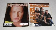 U2 ROLLING STONE Magazine Issue #499 w/ BONO Issue #510 Lot of two (2) from 1987
