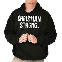 Jesus Christ Religious Bible God Christianity Faith Pray Hooded Sweatshirt