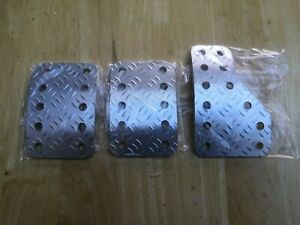 Universal RACING ALUMINIUM PEDAL SET, FOR RACE RALLY CARS OMP, Sparco,