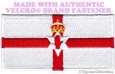 NORTHERN IRELAND FLAG PATCH EMBROIDERED ULSTER BANNER w/ VELCRO® Brand Fastener