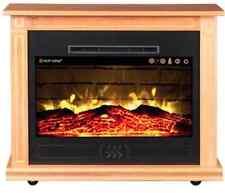 Heat Surge - Roll N Glow EV5 Amish Electric Fireplace (4,606 BTU) Golden Oak