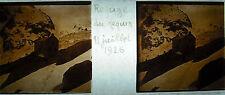 Plaque stéréoscopique photographie le Refuge du Requin Haute-Savoie Juillet 1926