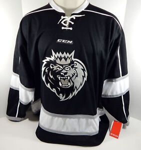 Manchester Monarchs Blank Authentic Replica Black Jersey Medium