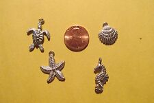 20 Pewter  Ocean Theme Charms Five Of Each Pictured.