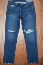 Abercrombie & Fitch Men's Rustin Athletic Slim Dark Destroyed Jeans W34 L32